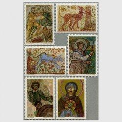 ユーゴスラビア 1970年1-4世紀のモザイク6種