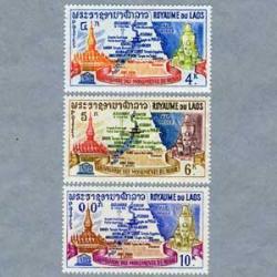 ラオス 1964年ユネスコ歴史建造物の保護3種