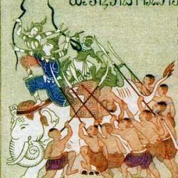 ラオス 1962年Makha Bousa祭り4種