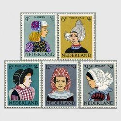 オランダ 1960年民族衣装の少女5種