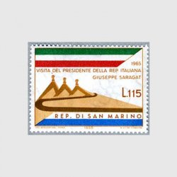 サンマリノ 1965年イタリア大統領の訪問