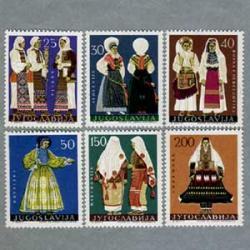 ユーゴスラビア 1964年民族衣装6種