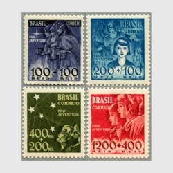 ブラジル 1939-40年慈善施設40年4種