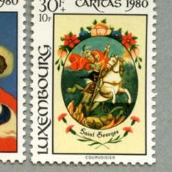 ルクセンブルグ 1980年19世紀のガラスペイント4種