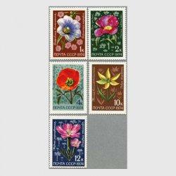 ソ連 1974年アサガオなど5種 ※難あり品