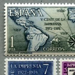 スペイン 1973年印刷1500年3種