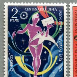 スペイン 1974年UPU100年2種