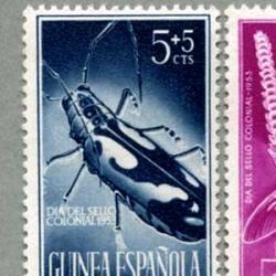 スペイン領ギニア 1953年ホウセキカミキリなど4種