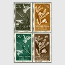 スペイン領サハラ 1956年キンギョソウなど4種