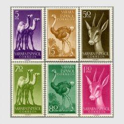 スペイン領サハラ 1957年ガゼルなど6種