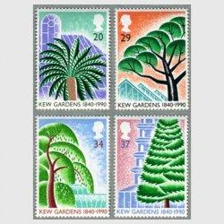 イギリス 1990年キュー植物園4種