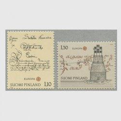 フィンランド 1979年ヨーロッパ切手 光通信など2種