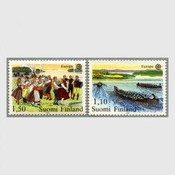 フィンランド 1981年ヨーロッパ切手夏至祭前夜祭など2種※少シミ