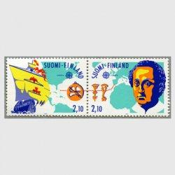 フィンランド 1992年ヨーロッパ切手新大陸発見500年2種連刷