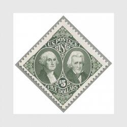 アメリカ 1995年ワシントンとジャクソン額面5.00ドル