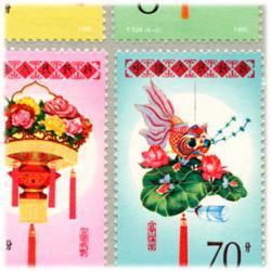中国 1985年花灯4種