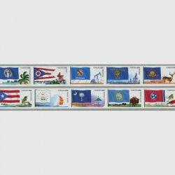 アメリカ 2011年5次旗セルフ糊コイル10種連刷