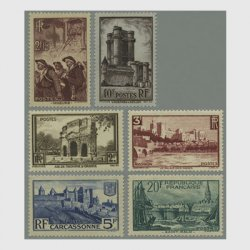 フランス 1938年風景切手6種