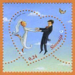 スロベニア 2007年ラブ切手