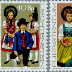 リヒテンシュタイン 1977年祭りの衣装3種