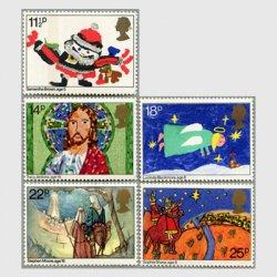 イギリス 1981年クリスマス5種
