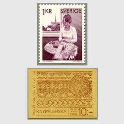 スウェーデン 1976年レース編みする女性