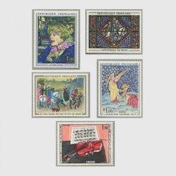 フランス 1965年美術切手5種
