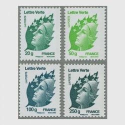フランス 2011年マリアンヌ・グリーンレター4種