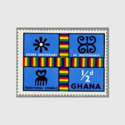 ガーナ 1959年ケンテ布とアディンクラシンボル