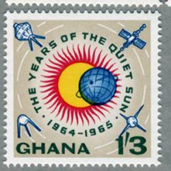 ガーナ 1964年太陽極少期国際観測年3種