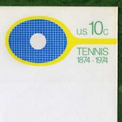 切手付封筒 アメリカ1974年テニスラケット10c