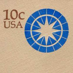 切手付封筒 アメリカ1975年コンパス10c