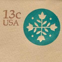 切手付封筒 アメリカ1976年キルト13c
