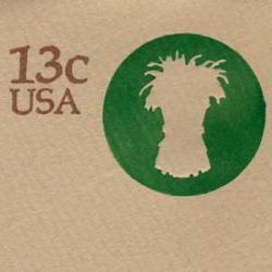 切手付封筒 アメリカ1976年麦の束13c
