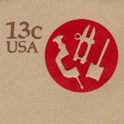 切手付封筒 アメリカ1976年道具13c