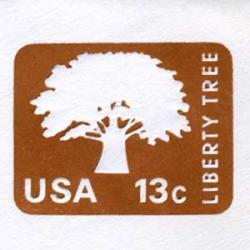 切手付封筒 アメリカ1975年Liberty Tree