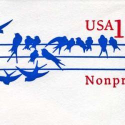 切手付封筒 アメリカ1991年鳥
