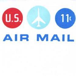 エアメール封筒 アメリカ1971年11c