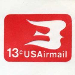 エアメール封筒 アメリカ1973年13c
