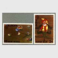 ベルギー 1989年ヨーロッパ切手 ビー玉など2種