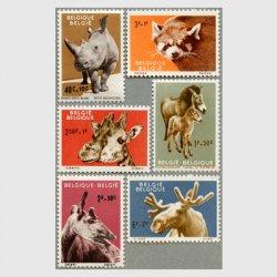 ベルギー 1961年動物6種