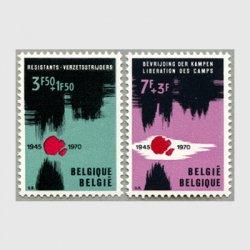 ベルギー 1970年「Resistance」2種