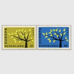 オランダ 1962年ヨーロッパ切手2種