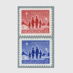 カナダ 1964年ベツレヘムの星と家族2種