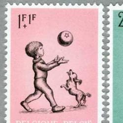ベルギー 1966年子犬とボール遊びする子供など5種