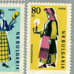 ブルガリア 1961年民族衣装6種
