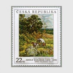 チェコ共和国 2005年幌馬車のある夏の風景
