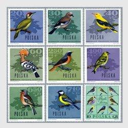 ポーランド 1966年野鳥9種