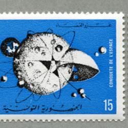 チュニジア 1971年宇宙征服2種