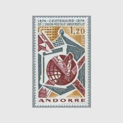 アンドラ(仏管轄) 1974年UPU100年